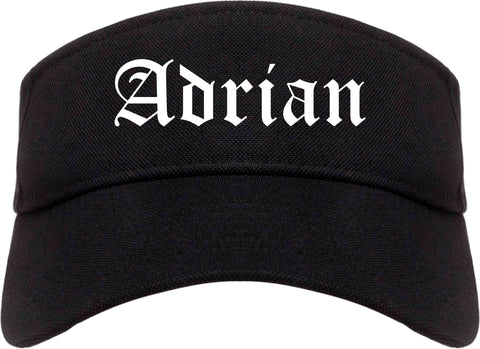 Adrian Michigan MI Old English Mens Visor Cap Hat Black
