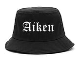 Aiken South Carolina SC Old English Mens Bucket Hat Black