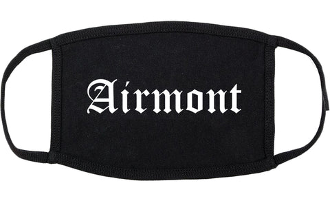 Airmont New York NY Old English Cotton Face Mask Black