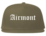 Airmont New York NY Old English Mens Snapback Hat Grey