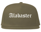 Alabaster Alabama AL Old English Mens Snapback Hat Grey