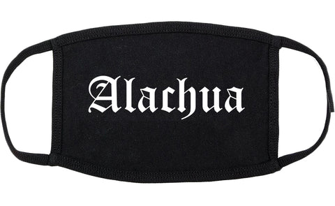 Alachua Florida FL Old English Cotton Face Mask Black