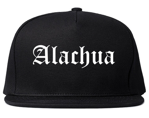 Alachua Florida FL Old English Mens Snapback Hat Black