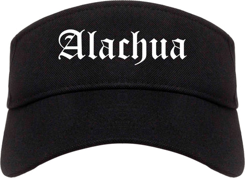 Alachua Florida FL Old English Mens Visor Cap Hat Black