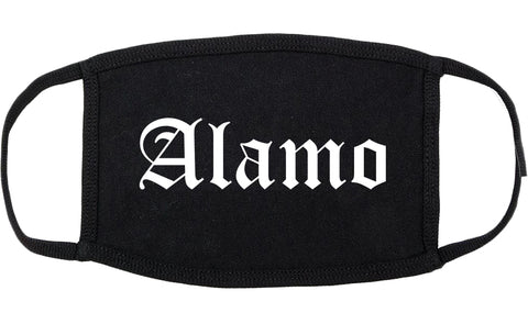 Alamo Texas TX Old English Cotton Face Mask Black