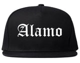 Alamo Texas TX Old English Mens Snapback Hat Black