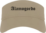 Alamogordo New Mexico NM Old English Mens Visor Cap Hat Khaki