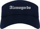 Alamogordo New Mexico NM Old English Mens Visor Cap Hat Navy Blue