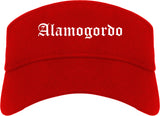 Alamogordo New Mexico NM Old English Mens Visor Cap Hat Red