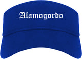 Alamogordo New Mexico NM Old English Mens Visor Cap Hat Royal Blue