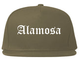 Alamosa Colorado CO Old English Mens Snapback Hat Grey