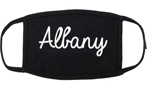 Albany California CA Script Cotton Face Mask Black