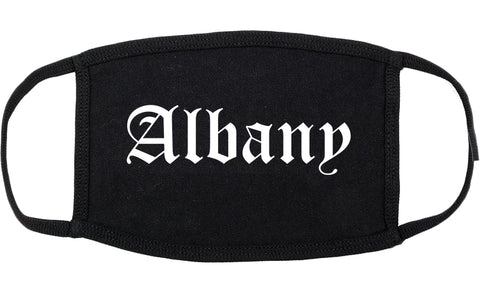 Albany Georgia GA Old English Cotton Face Mask Black