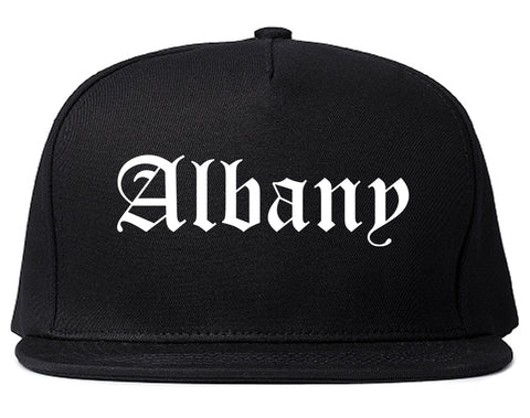Albany Georgia GA Old English Mens Snapback Hat Black