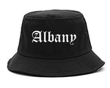Albany New York NY Old English Mens Bucket Hat Black