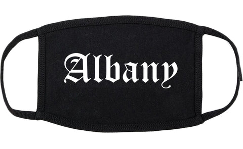 Albany Oregon OR Old English Cotton Face Mask Black