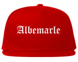 Albemarle North Carolina NC Old English Mens Snapback Hat Red