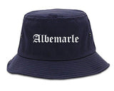 Albemarle North Carolina NC Old English Mens Bucket Hat Navy Blue