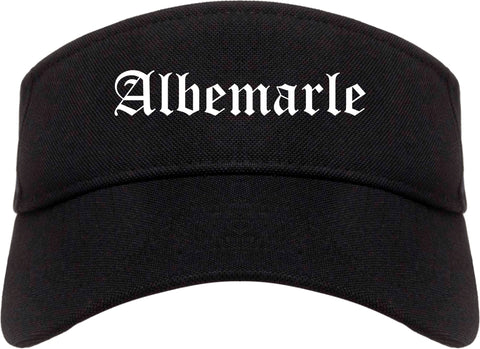 Albemarle North Carolina NC Old English Mens Visor Cap Hat Black