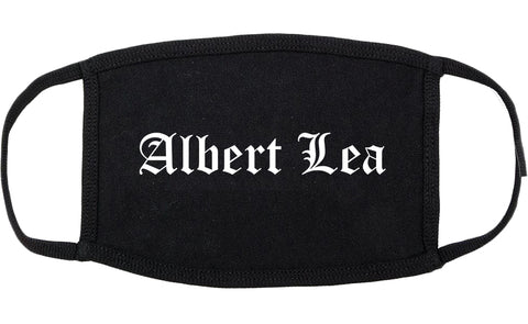 Albert Lea Minnesota MN Old English Cotton Face Mask Black