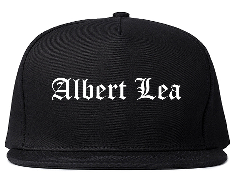 Albert Lea Minnesota MN Old English Mens Snapback Hat Black