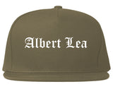 Albert Lea Minnesota MN Old English Mens Snapback Hat Grey