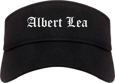 Albert Lea Minnesota MN Old English Mens Visor Cap Hat Black