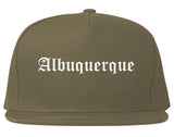 Albuquerque New Mexico NM Old English Mens Snapback Hat Grey