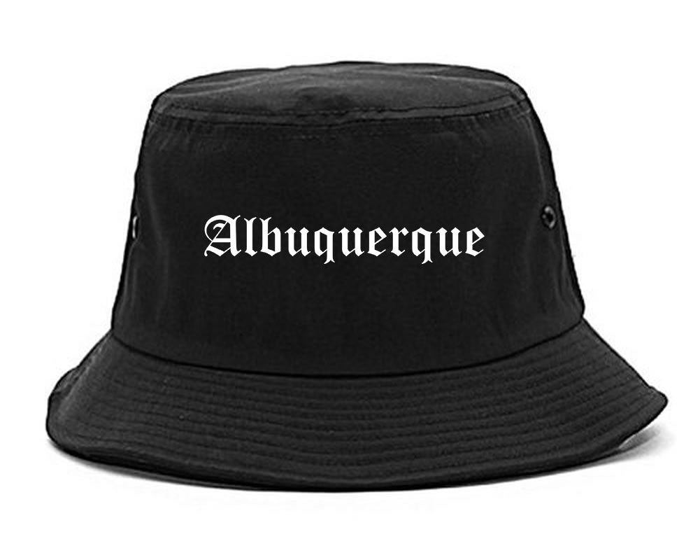 Albuquerque New Mexico NM Old English Mens Bucket Hat Black