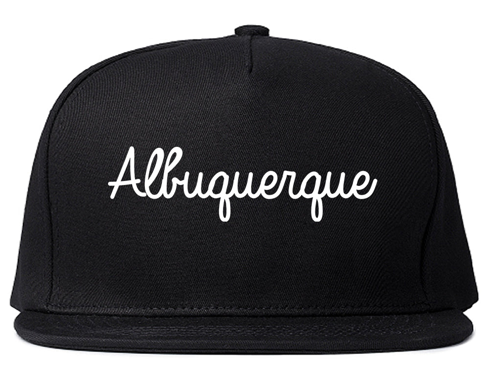 Albuquerque New Mexico NM Script Mens Snapback Hat Black