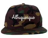 Albuquerque New Mexico NM Script Mens Snapback Hat Army Camo