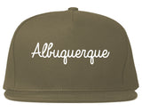Albuquerque New Mexico NM Script Mens Snapback Hat Grey