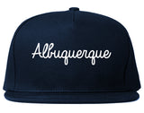 Albuquerque New Mexico NM Script Mens Snapback Hat Navy Blue
