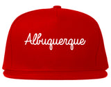 Albuquerque New Mexico NM Script Mens Snapback Hat Red