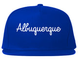 Albuquerque New Mexico NM Script Mens Snapback Hat Royal Blue