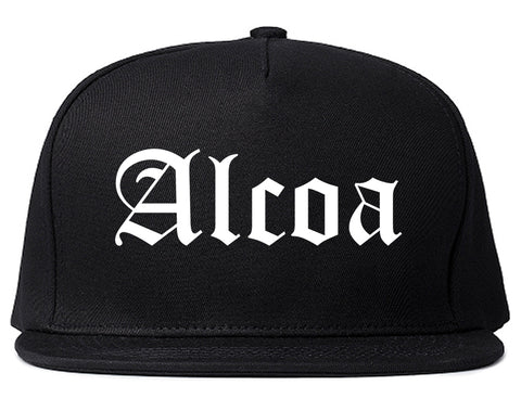 Alcoa Tennessee TN Old English Mens Snapback Hat Black