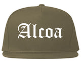 Alcoa Tennessee TN Old English Mens Snapback Hat Grey