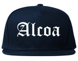 Alcoa Tennessee TN Old English Mens Snapback Hat Navy Blue