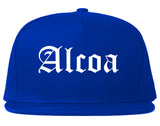 Alcoa Tennessee TN Old English Mens Snapback Hat Royal Blue