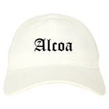 Alcoa Tennessee TN Old English Mens Dad Hat Baseball Cap White