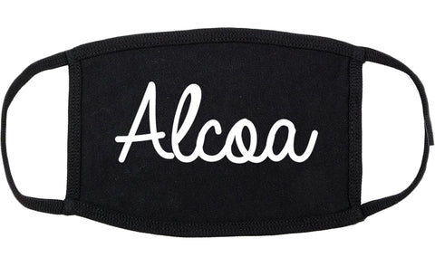 Alcoa Tennessee TN Script Cotton Face Mask Black