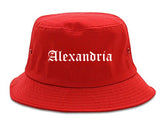 Alexandria Indiana IN Old English Mens Bucket Hat Red