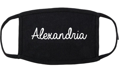 Alexandria Kentucky KY Script Cotton Face Mask Black