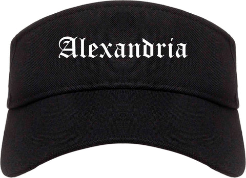 Alexandria Louisiana LA Old English Mens Visor Cap Hat Black