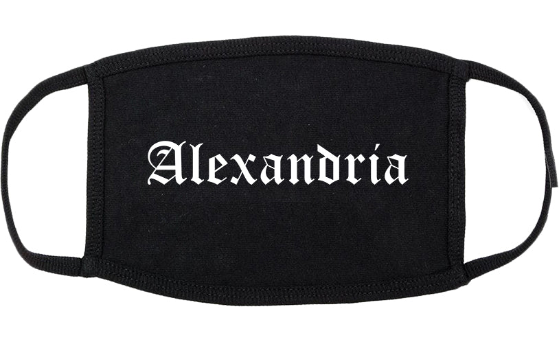 Alexandria Minnesota MN Old English Cotton Face Mask Black