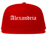 Alexandria Minnesota MN Old English Mens Snapback Hat Red