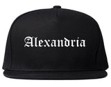 Alexandria Virginia VA Old English Mens Snapback Hat Black