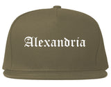 Alexandria Virginia VA Old English Mens Snapback Hat Grey