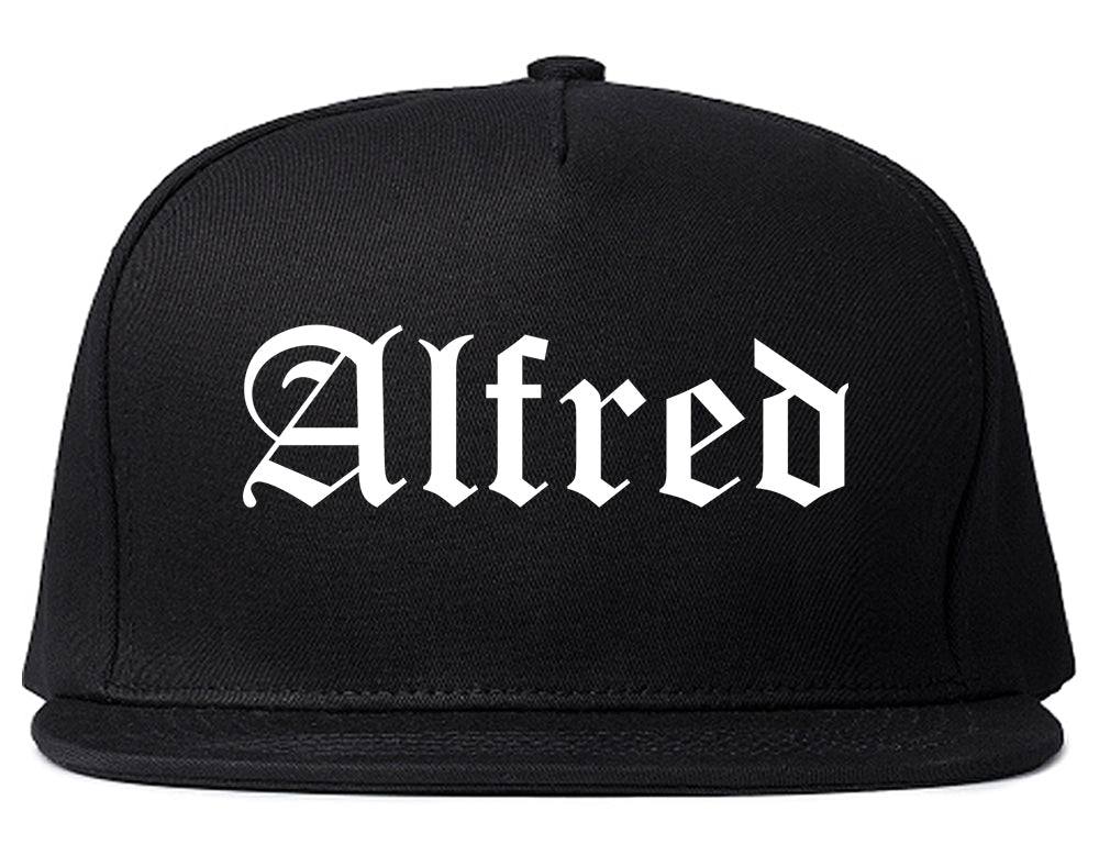 Alfred New York NY Old English Mens Snapback Hat Black