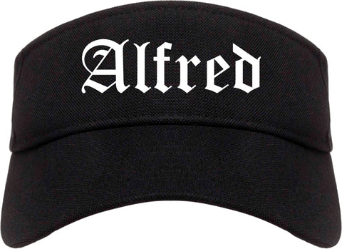 Alfred New York NY Old English Mens Visor Cap Hat Black